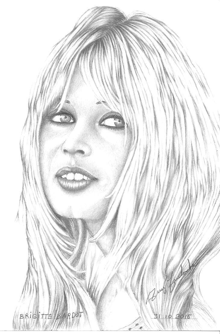 Peinture Brigitte Bardot Dessin Noir Et Blanc