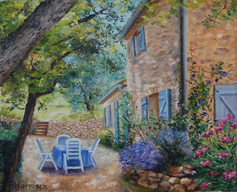 Peinture repas au jardin for Au jardin