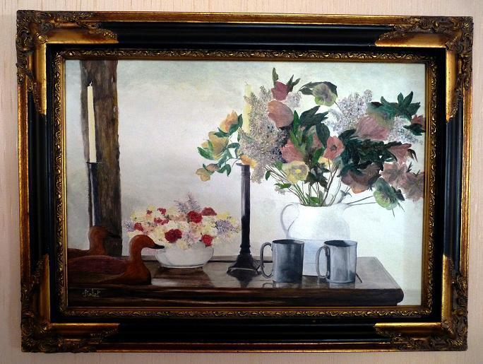 Bouquets sur buffet