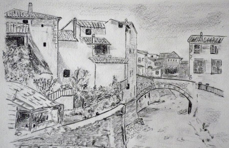 Dessin village d 39 antan - Dessin village ...