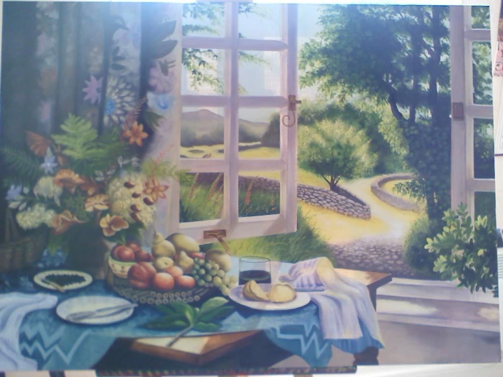 peinture paysage compos. Black Bedroom Furniture Sets. Home Design Ideas