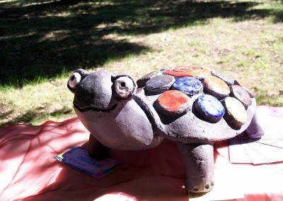 Sculpture TORTUE RAKU