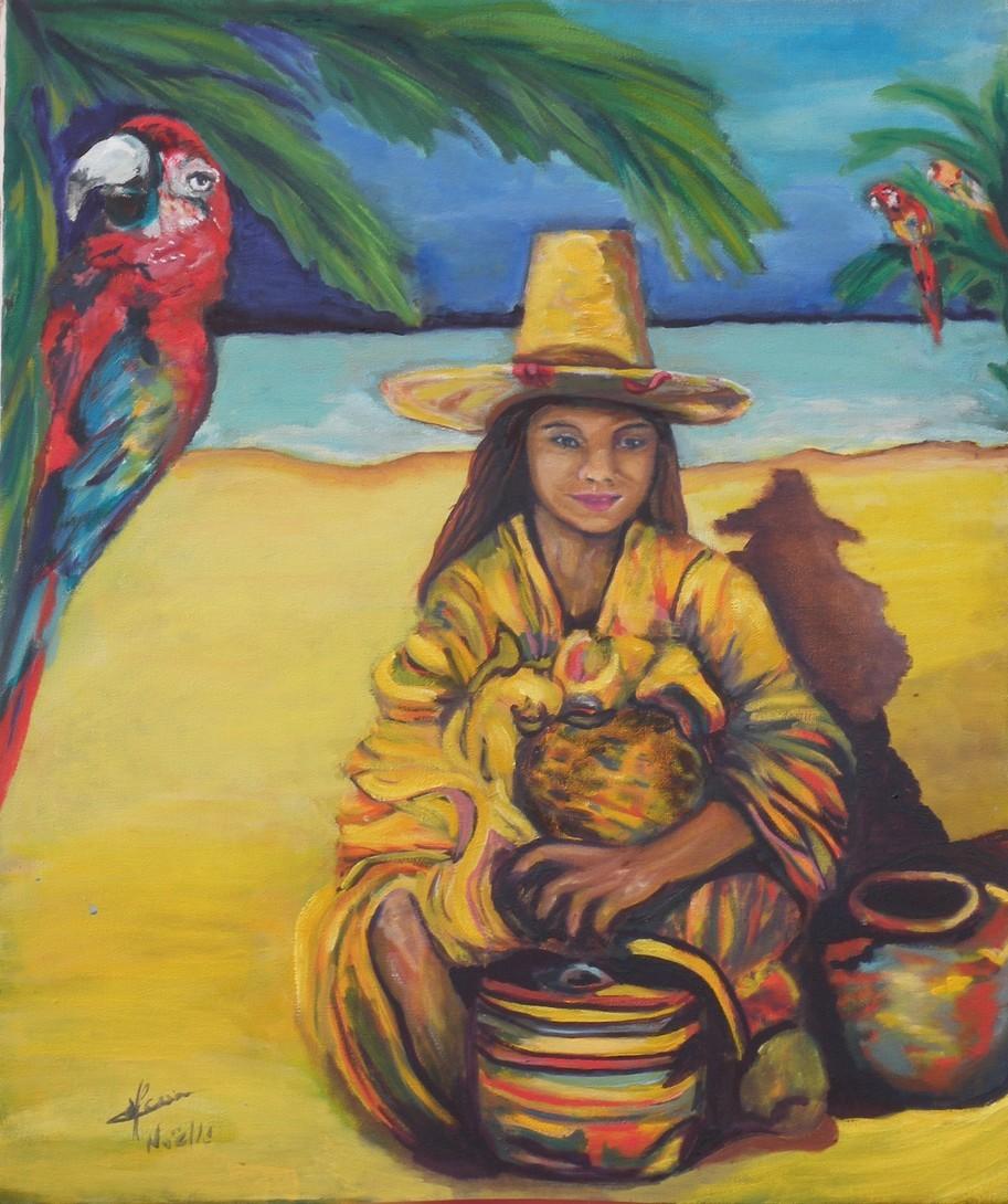 La jeune fille aux perroquets