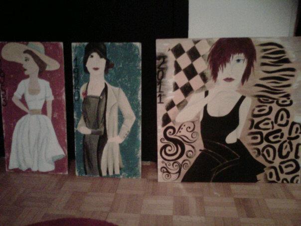 Peinture cycle de la mode - La mode en peinture ...