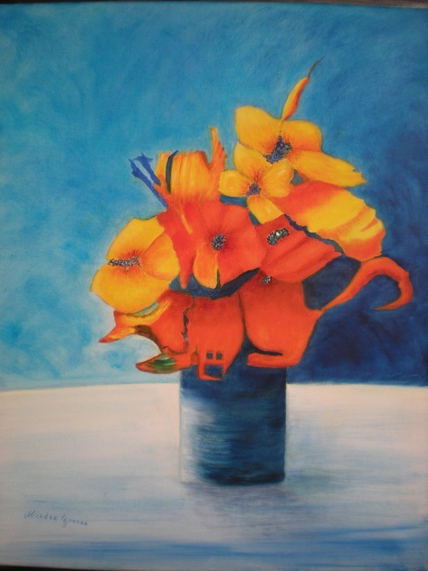 Connu Peinture BOUQUET ORANGE VE93