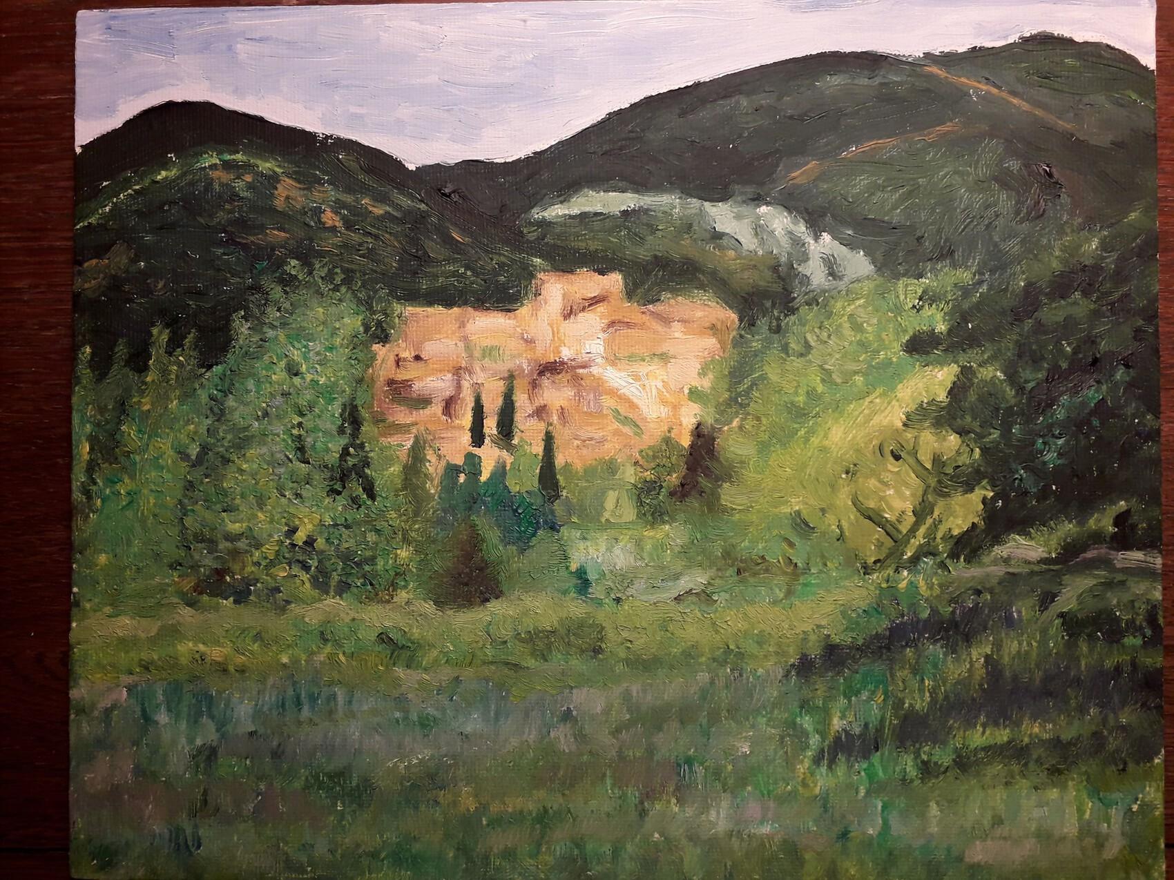 village de Vaugines, sud Luberon