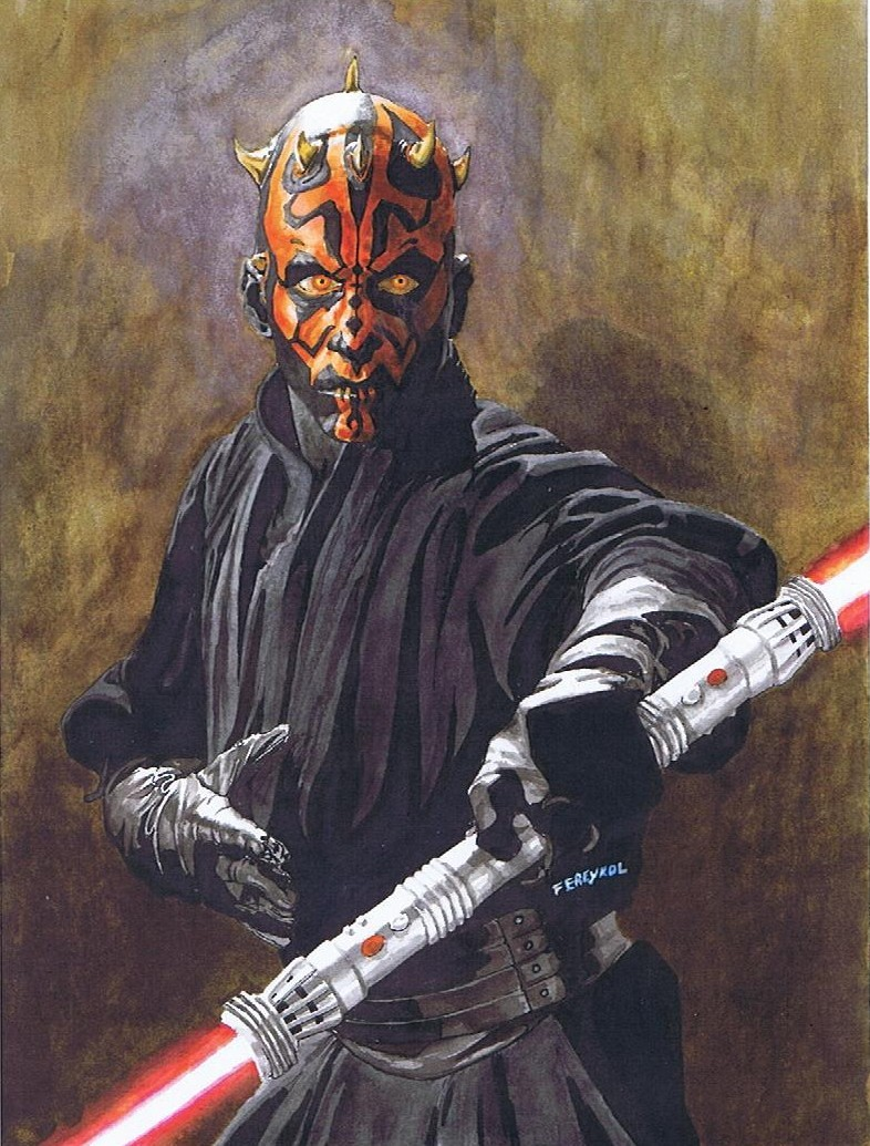 Peinture Chambre Star Wars : Peinture dark maul star wars