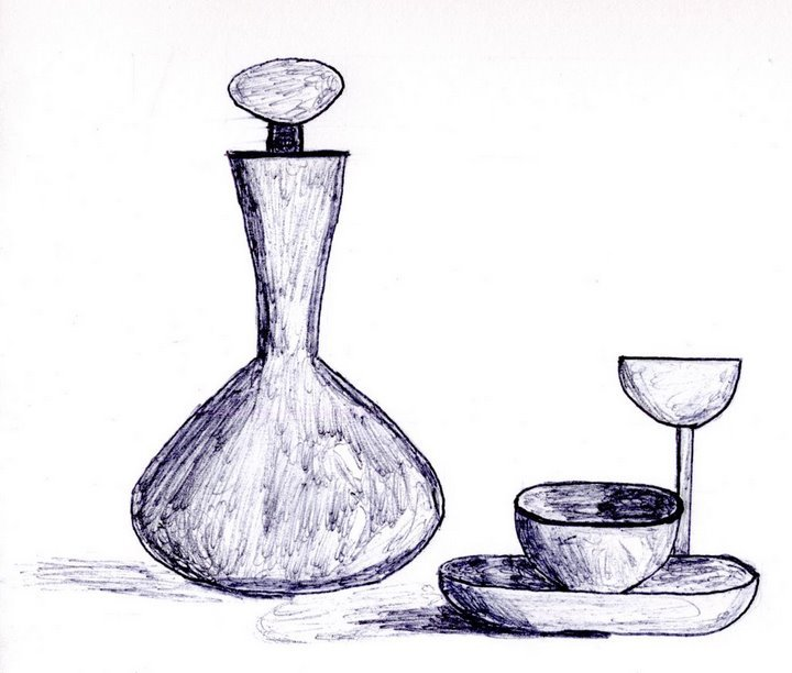 Dessin nature morte au bille - Dessin nature morte ...