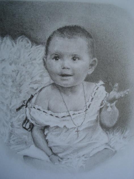 Dessin Bébé époque 1900