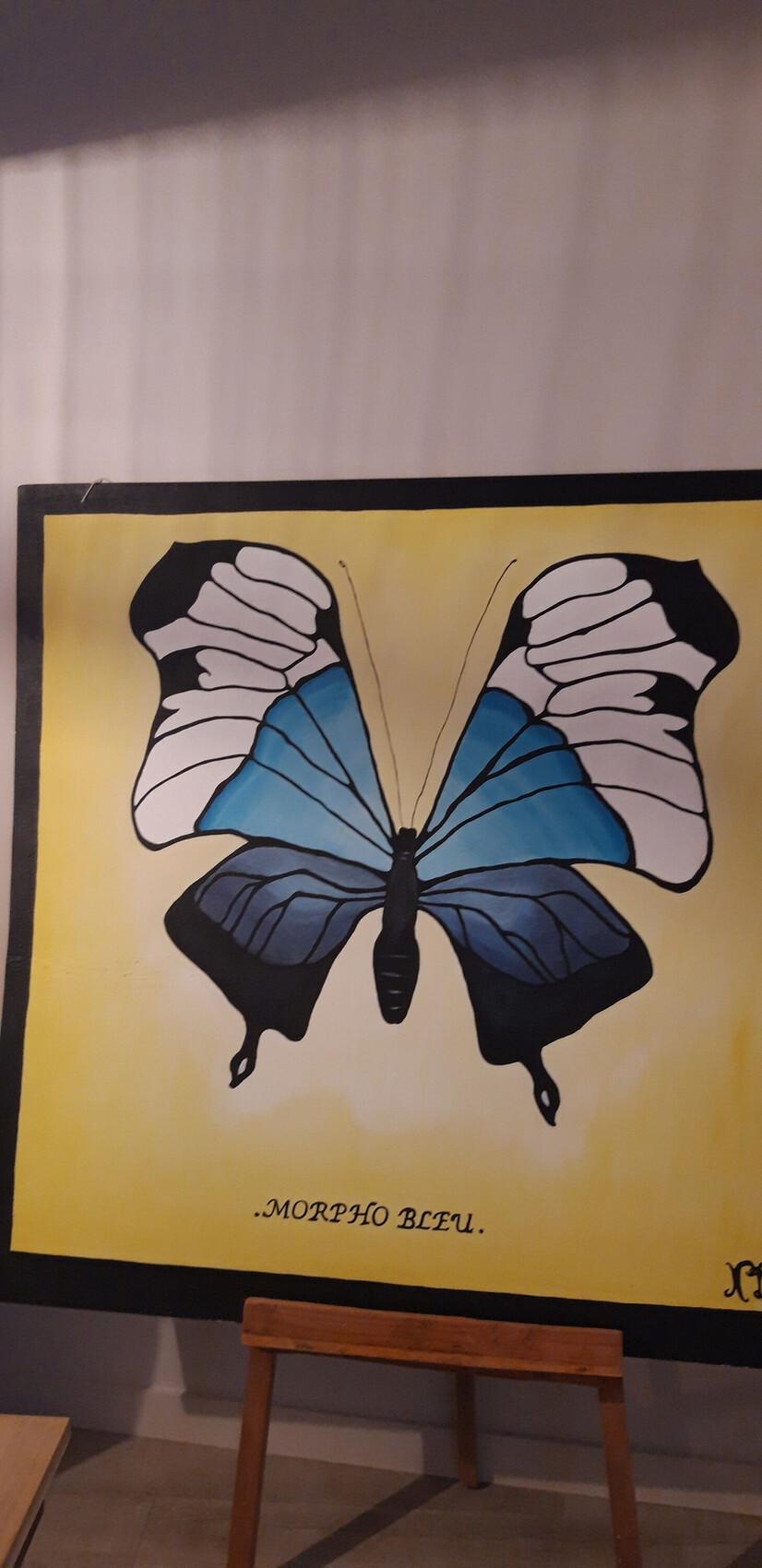 Papillon morpho bleu