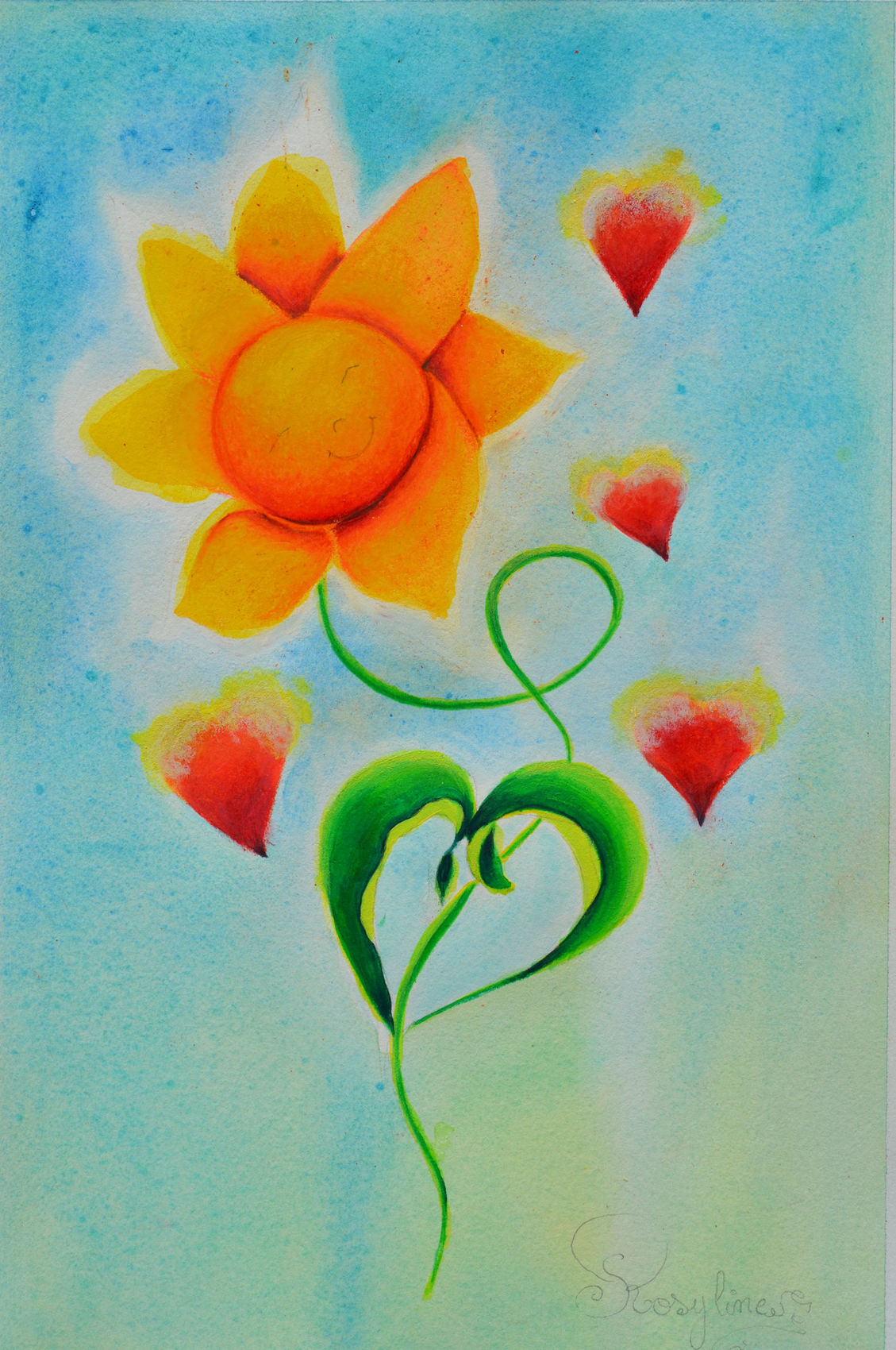 Peinture Le Soleil Donne