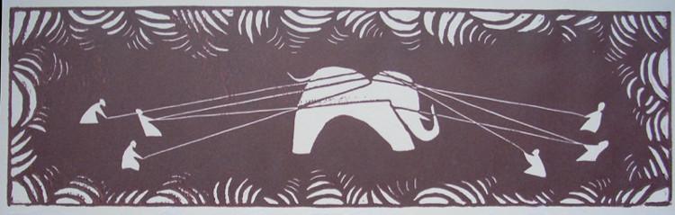 """Une série """"La chasse. l'elephant"""""""