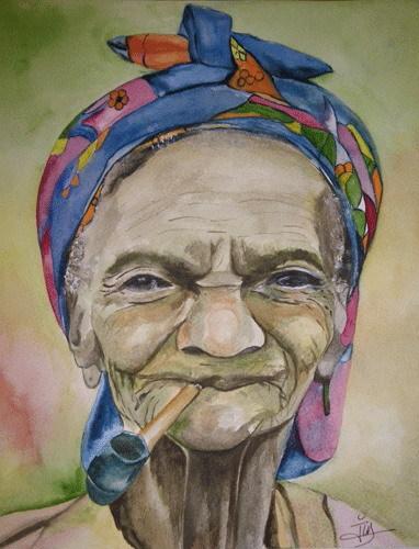vieilles femmes donnant des pipes