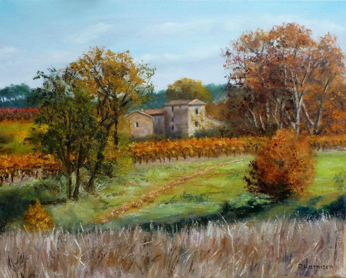 Peinture automne en luberon for Peinture du liberon