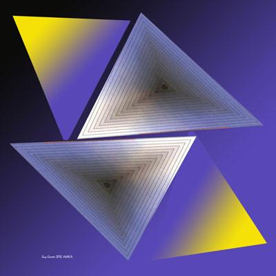 Triangulation bleu & or