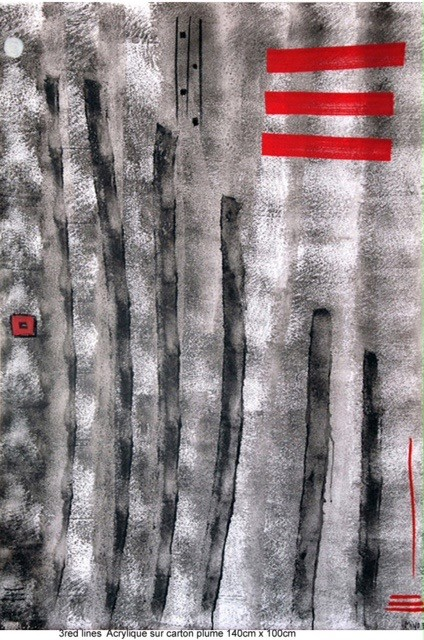 Peinture 3 Red Lines