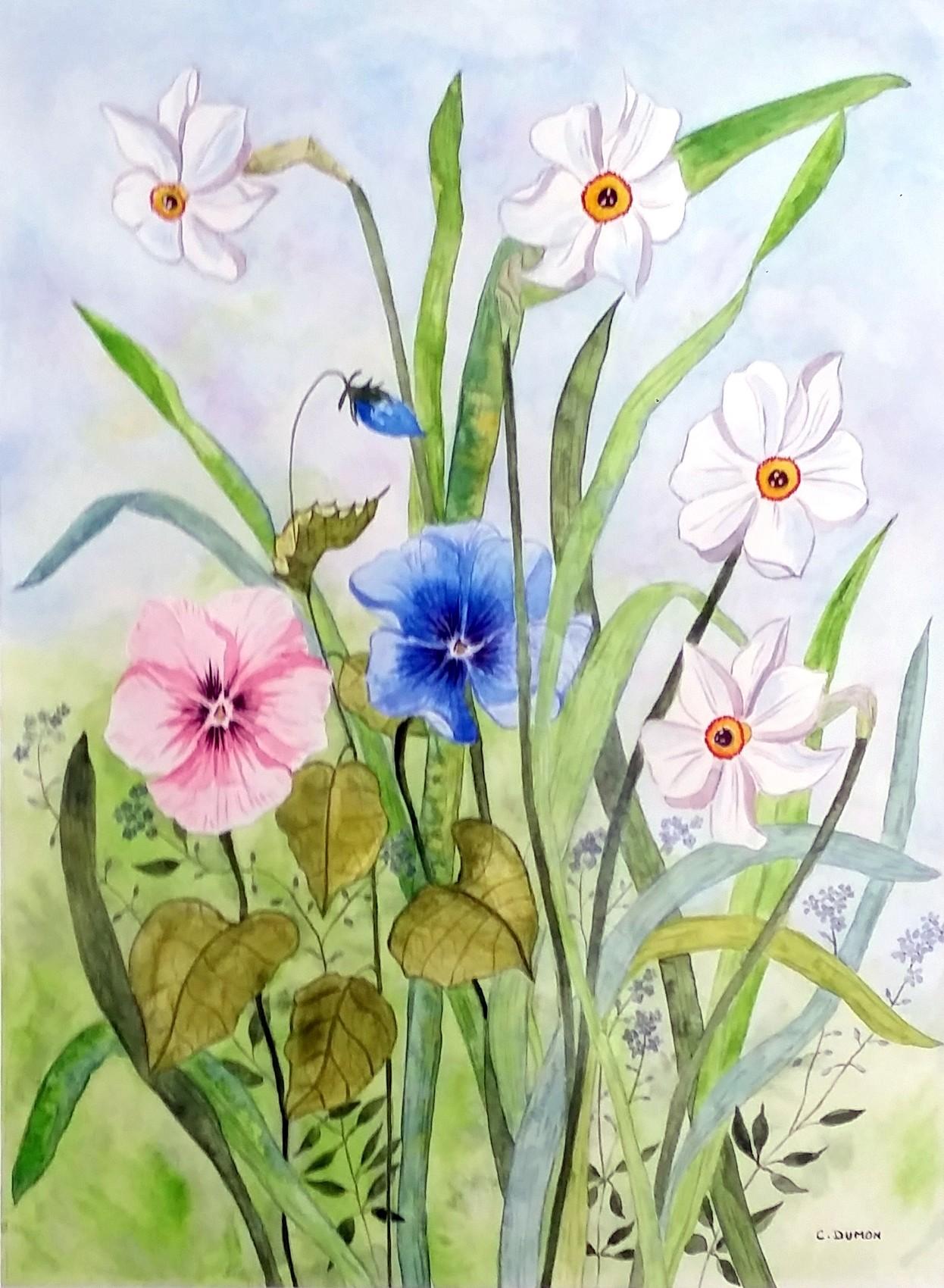 Peinture le jardin fantastique for Jardin fantastique