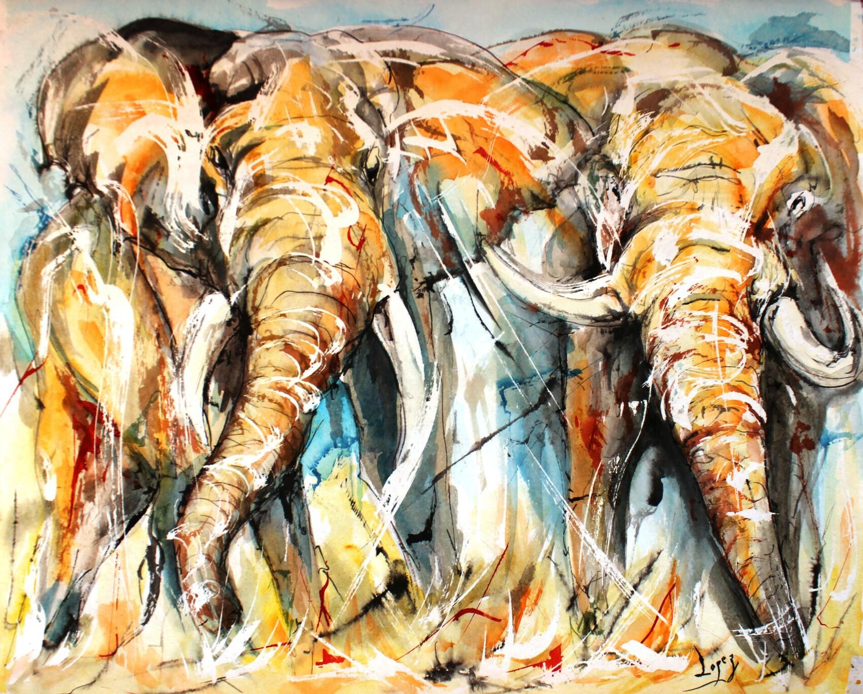 449 Les deux éléphants