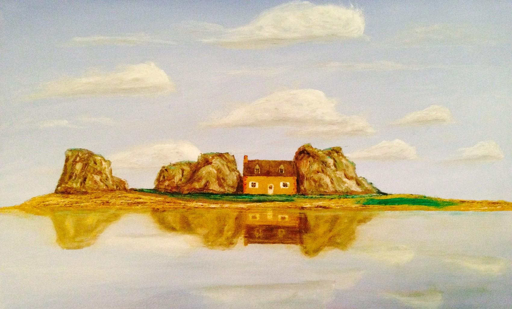 Peinture maison entre les rochers plougrescant - Maison entre les rochers ...