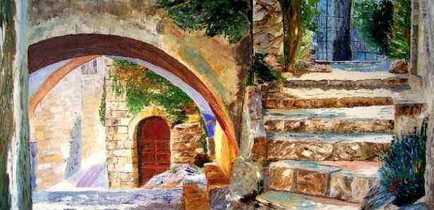 Peinture Ruelle - Ombre et lumière
