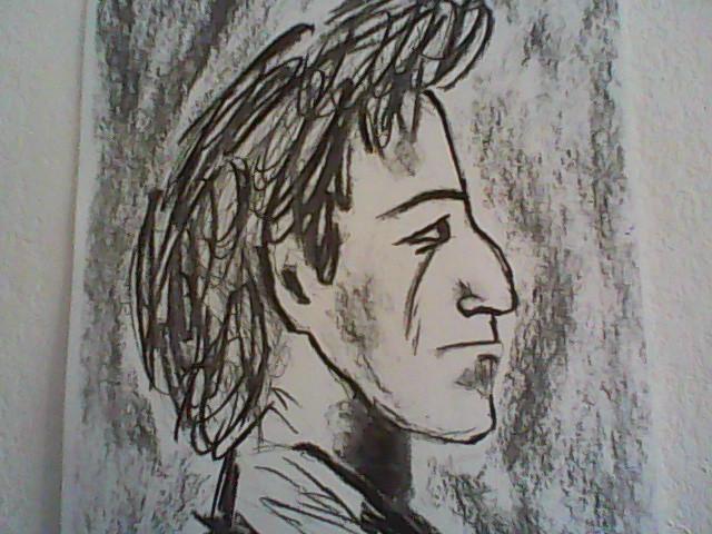 Dessin portrait noir et blanc - Encadrement portrait noir et blanc ...