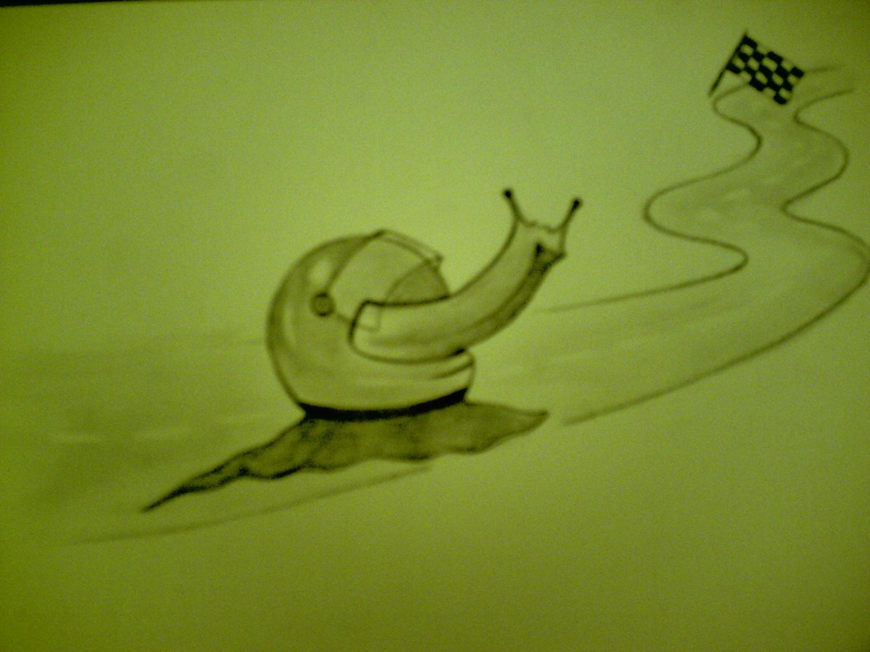 escargot de course