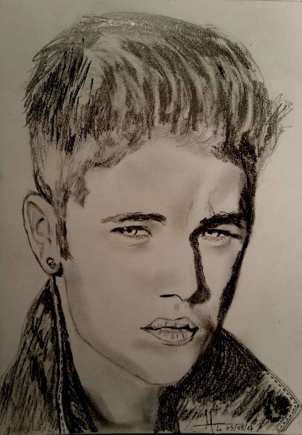 Dessin portrait justin bieber - Justin bieber dessin ...