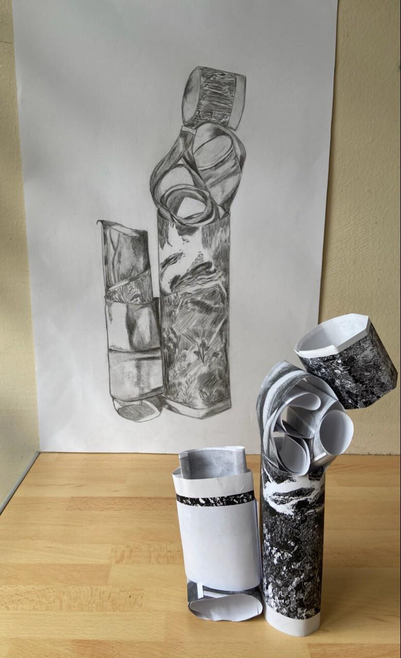 dessin de  espace,volume,dessin