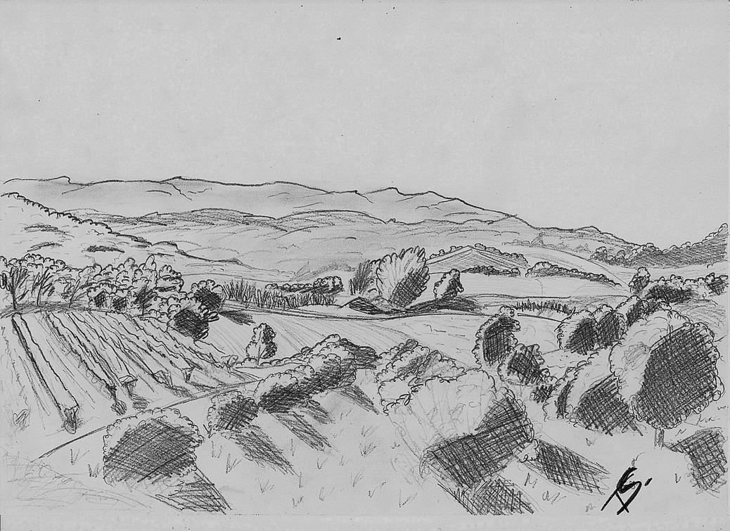 Dessin paysage d 39 automne - Paysage d automne dessin ...