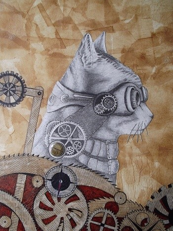 chat steampunk