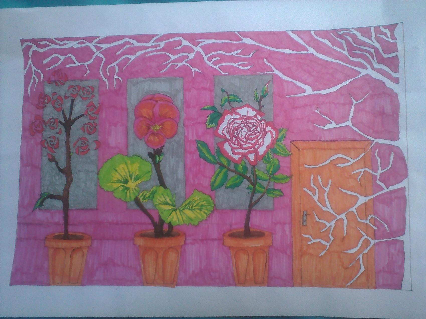 Mur fleuris
