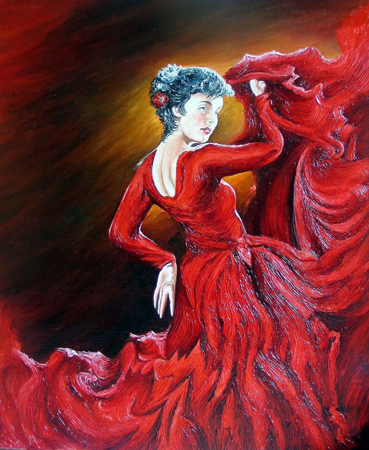 Pin andrew atroshenko on tumblr on pinterest - Peinture danseuse de flamenco ...