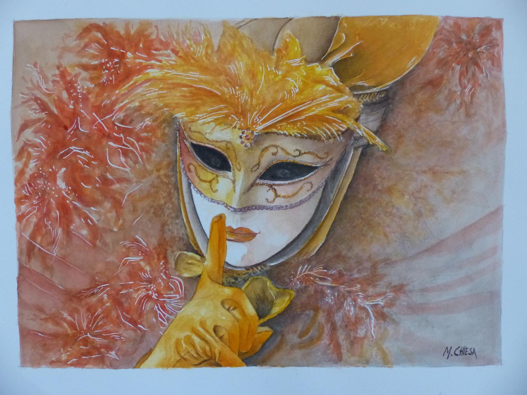 Peinture masque venise plumes - Masque a peinture ...