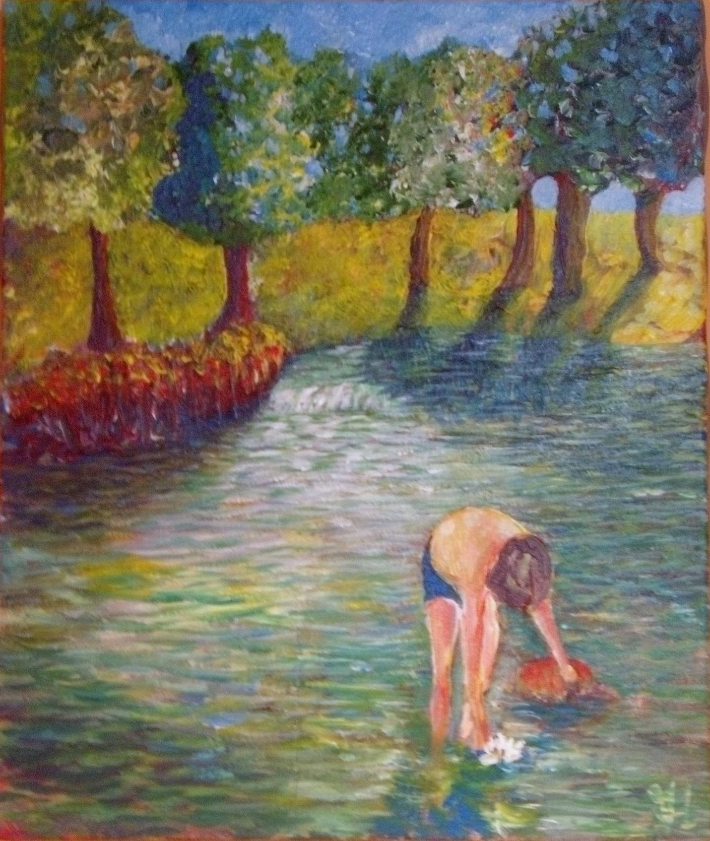 Peinture la rivière