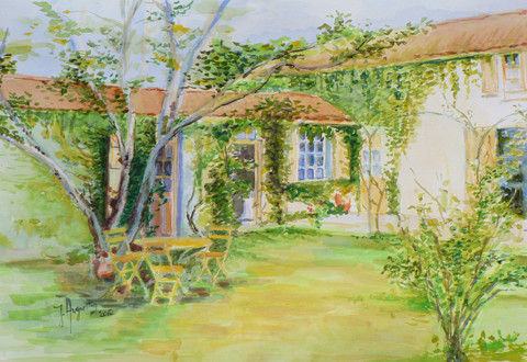 Peinture la maison de campagne au printemps the country for La maison de campagne