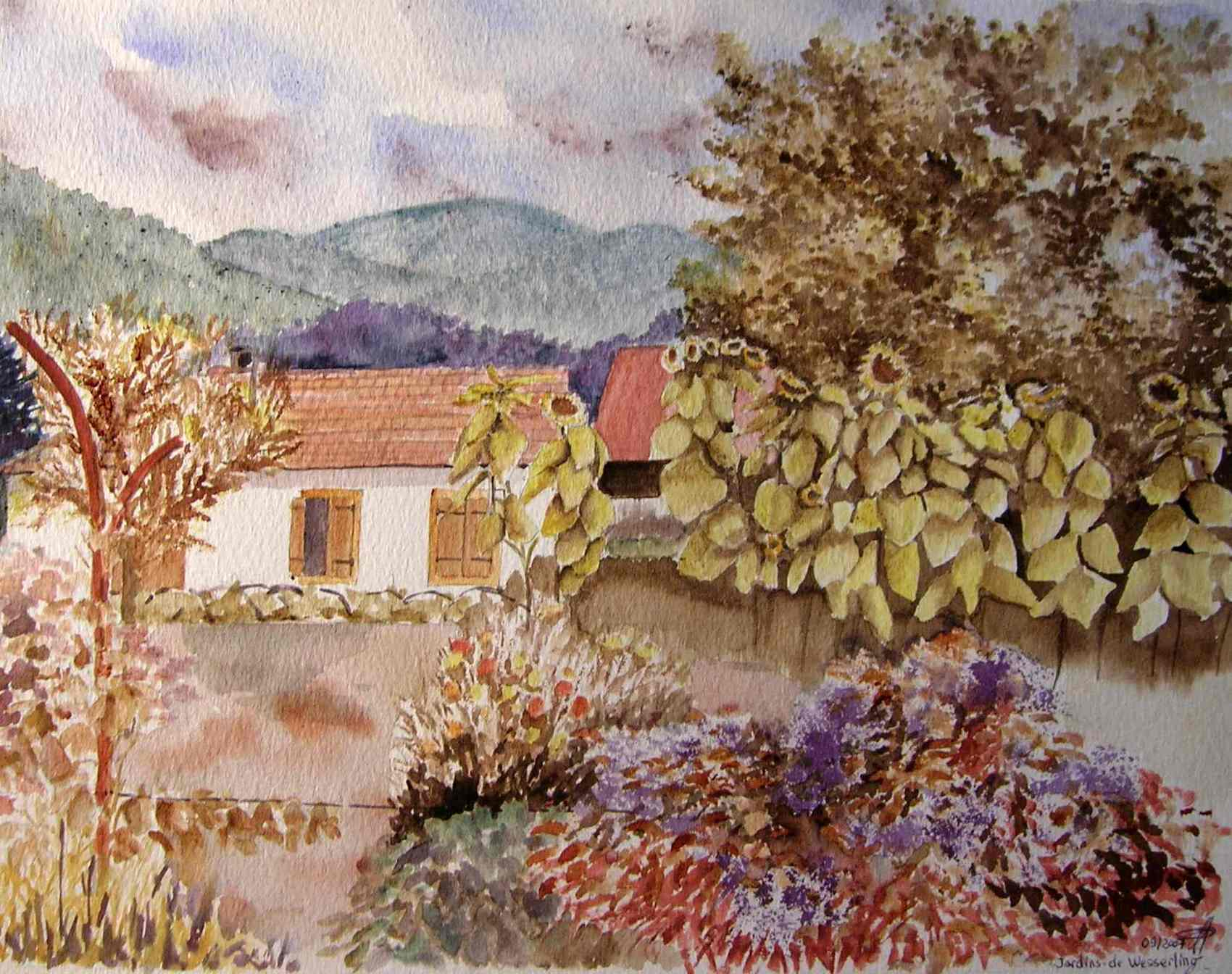 Peinture jardins de wesserling haut rhin for Entretien jardin haut rhin
