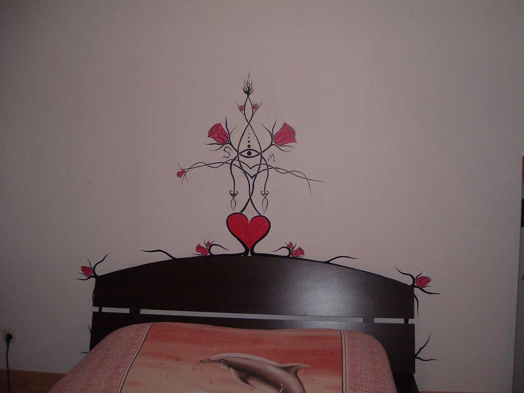 peinture tete de lit. Black Bedroom Furniture Sets. Home Design Ideas