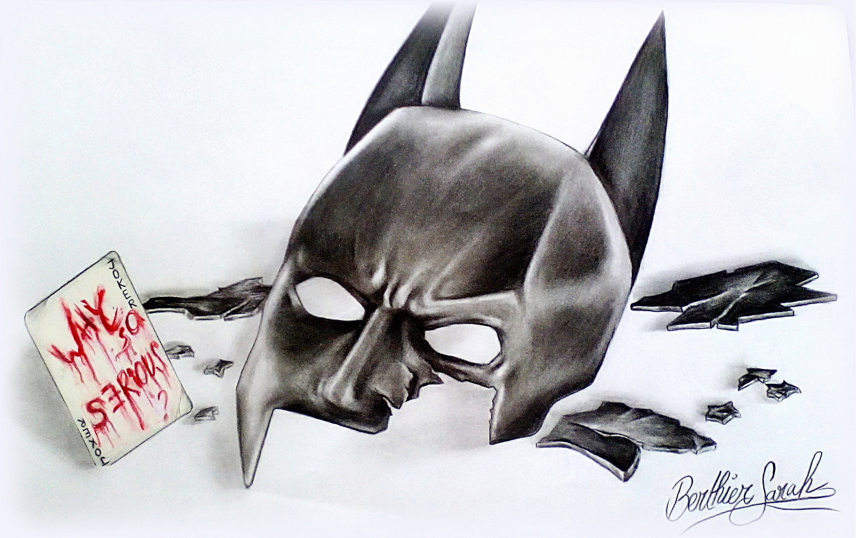 Dessin masque bris batman - Dessin de batman ...