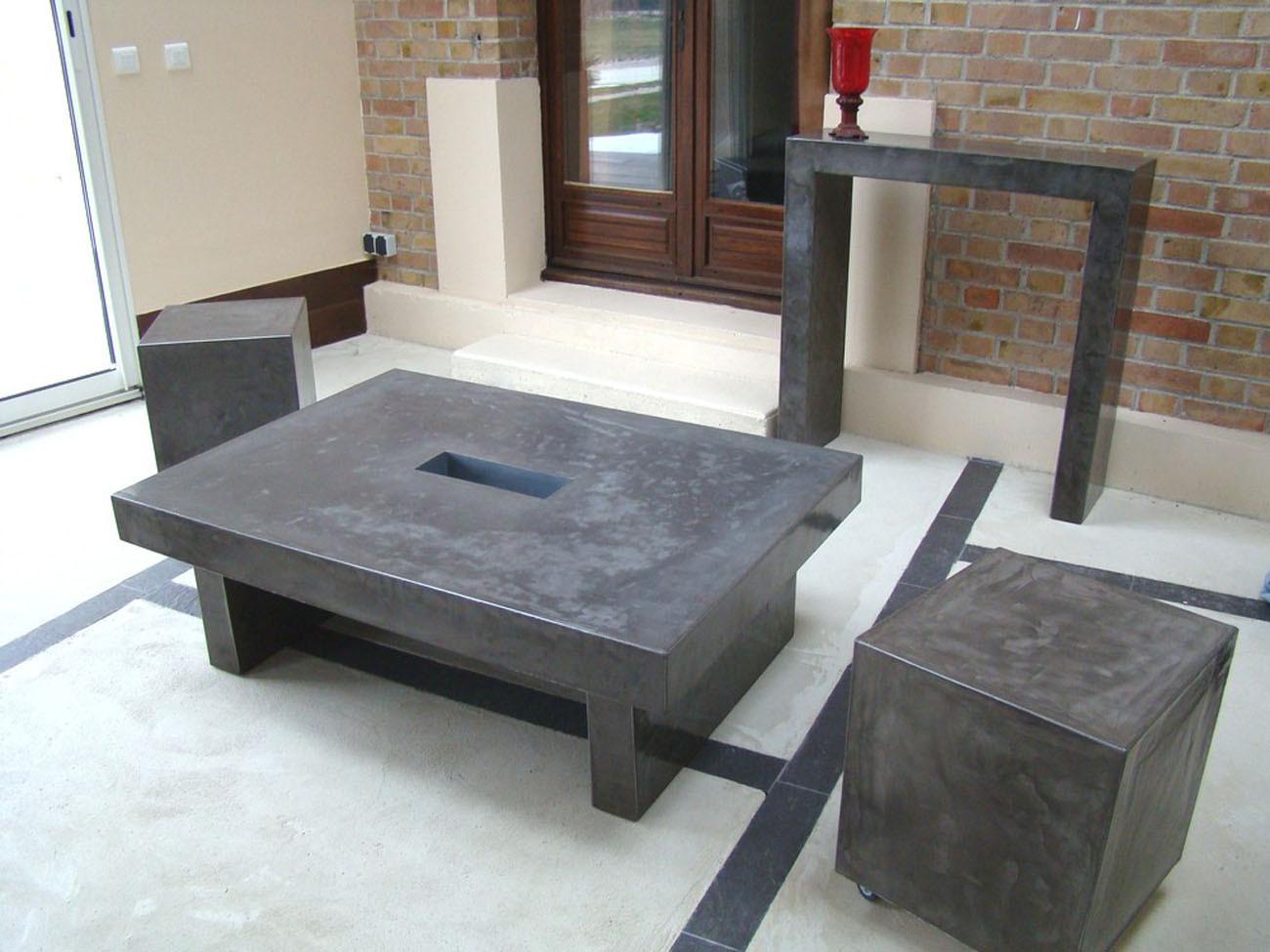 autre mobilier en b ton. Black Bedroom Furniture Sets. Home Design Ideas