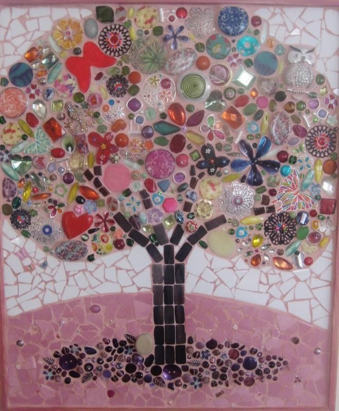 Peinture l 39 arbre de vie for Peinture mosaique