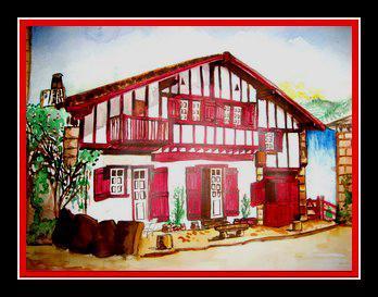 Peinture maison basque for Peinture d une maison