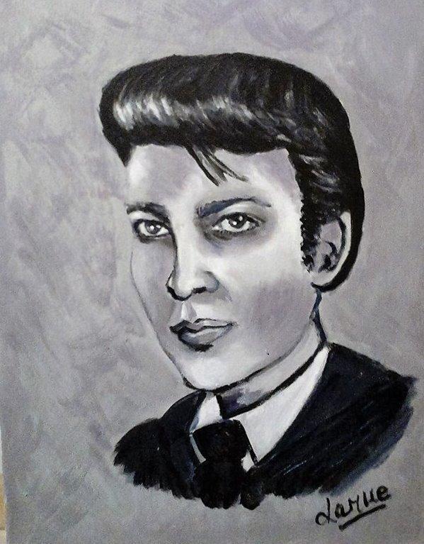 30 cm x 39 cm - Portrait style années 50