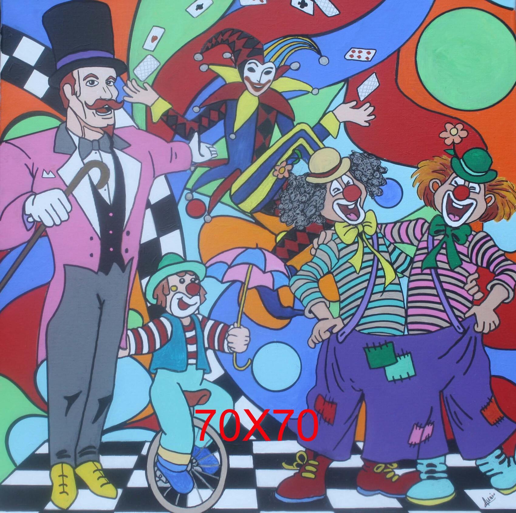 Peinture le cirque