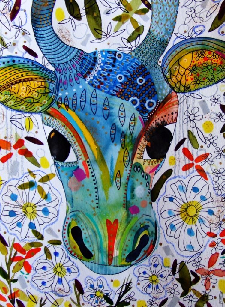 Peinture Vache Art Contemporain Animal Peinture