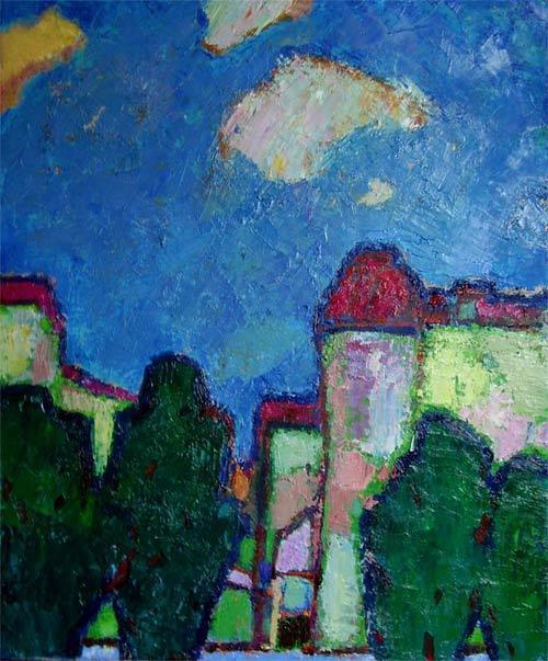 Peinture paysage de ville for Paysage de ville