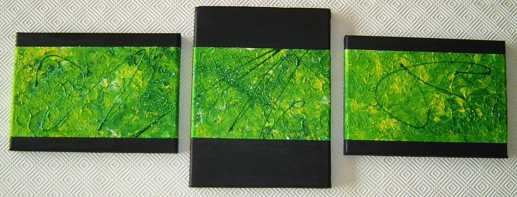 triptyque vert
