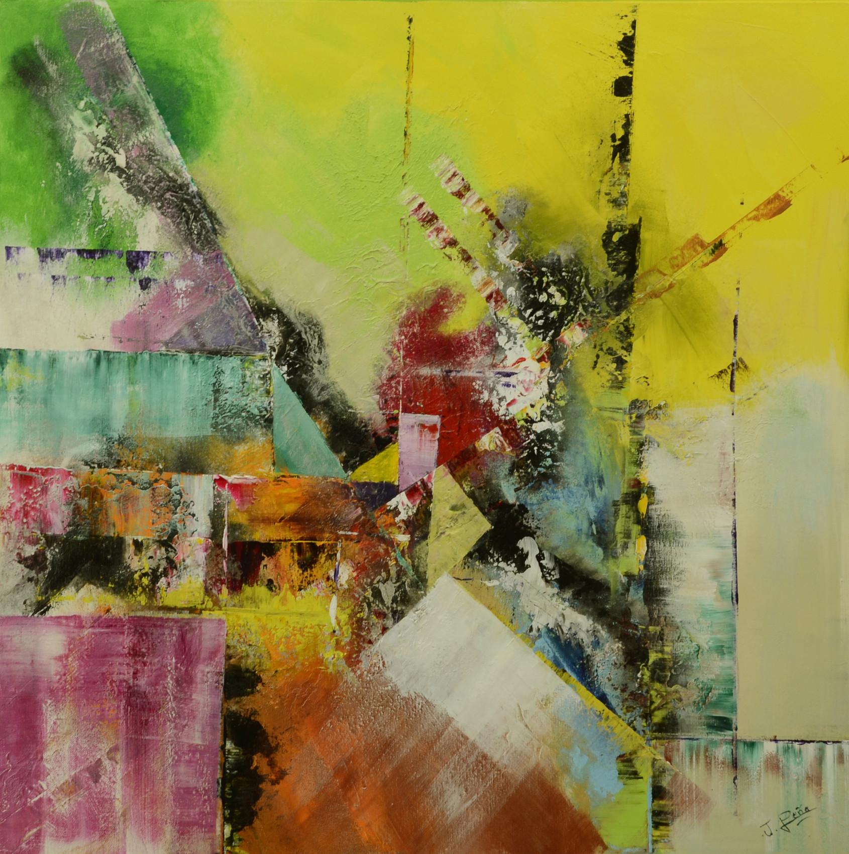 Peinture tableau abstrait la peinture acrylique style art d co behindy - Peinture glycero ou acrylique ...