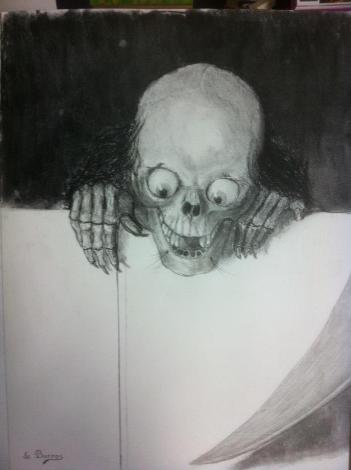 Crâne aux yeux exorbités