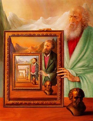 Peinture les miroirs du temps for Andre caplet le miroir de jesus