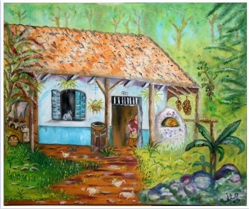 Peinture La Maison De Campagne